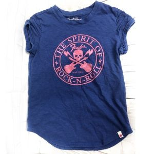 Lucky Brand Navy Fender Rock N Roll Tee YA1413